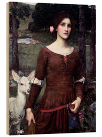 Legno  Lady Clare - John William Waterhouse