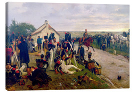 Tela  The Morning of The Battle of Waterloo: the French Await Napoleon's Orders, 1876 - Ernest Crofts