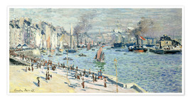 Poster Premium  view of the old outer harbor at le havre - Claude Monet