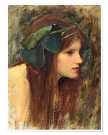 Poster Premium  Uno studio per una Naiade - John William Waterhouse