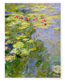Poster Premium  The lily pond - Claude Monet
