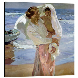 Stampa su alluminio  Just Out of the Sea - Joaquin Sorolla y Bastida