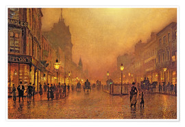 John Atkinson Grimshaw - A Street at Night