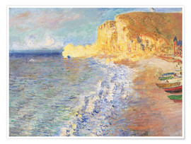 Poster Premium  Morning at Etretat - Claude Monet