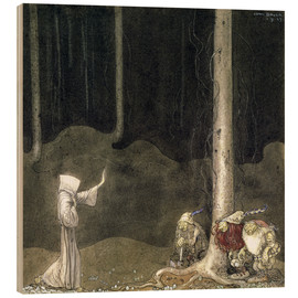 Stampa su legno  Brother St. Martin and the Three Trolls - John Bauer