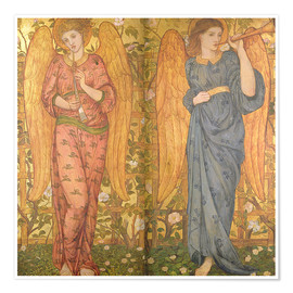 Poster Premium Angels with an oboe and a trumpet, 1861-62