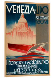 Stampa su vetro acrilico  Venezia Lido 1930 - Travel Collection