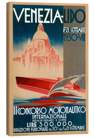 Stampa su tela  Venezia Lido 1930 - Travel Collection