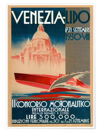 Poster Premium  Venezia Lido 1930 - Travel Collection