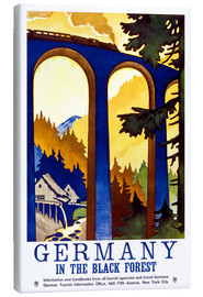 Stampa su tela  Germania - Foresta Nera (inglese) - Travel Collection