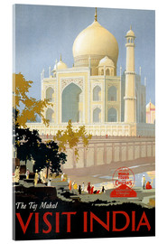 Stampa su vetro acrilico  India - Taj Mahal - Travel Collection