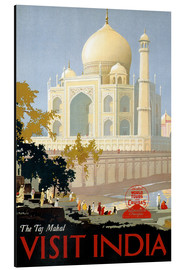 Stampa su alluminio  Indien - Taj Mahal - Travel Collection