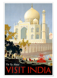 Poster Premium  India - Taj Mahal - Travel Collection
