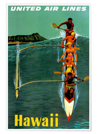 Poster Premium  Hawaii - Travel Collection