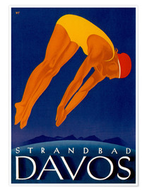 Poster Premium  Beach Davos - Travel Collection