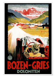 Poster Premium  Italy - Bozen-Gries Dolomites - Travel Collection