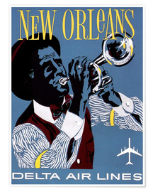 Poster Premium  Vola a New Orleans
