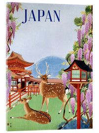 Stampa su vetro acrilico  Vintage Japan tourism - Travel Collection
