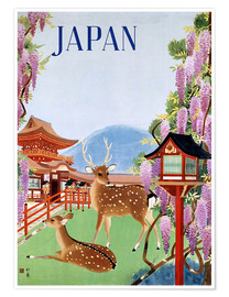 Poster Premium  Vintage Japan tourism - Travel Collection