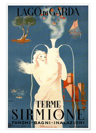 Poster Premium  Lago di Garda, Sirmione Lake Garda, Italy - Travel Collection