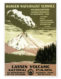 Poster Premium  Lassen Volcanic - National Park - Travel Collection