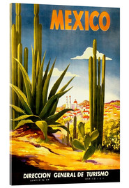 Stampa su vetro acrilico  Mexico Cactus - Travel Collection