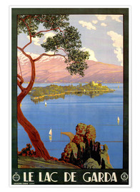 Poster Premium  Le Lac de Garda - Travel Collection