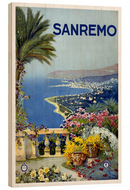 Stampa su legno  Italia - Sanremo - Travel Collection