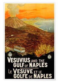 Poster Premium  Italy - Vesuvius and the Gulf of Naples - Travel Collection