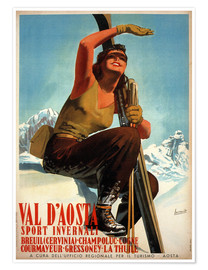 Poster Premium  Val d'Aosta - Travel Collection