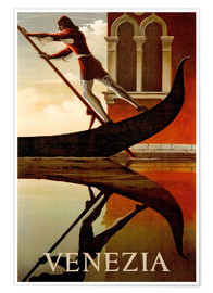 Poster Premium  Venezia (Italia), Gondoliere - Travel Collection