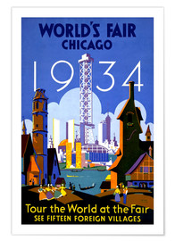 Poster Premium  Chicago - Worlds Fair 1934 - Travel Collection
