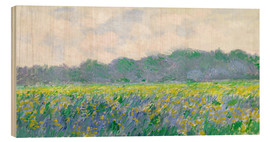 Stampa su legno  Field of Yellow Irises in Giverny - Claude Monet