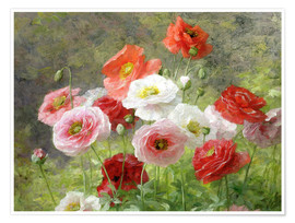 Poster Premium  Cluster of Poppies - Louis Marie Lemaire