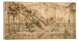 Legno  Perspective Study for the background of the Adoration of the Magi - Leonardo da Vinci
