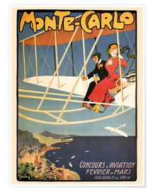 Poster Premium  Flying over Monte Carlo - Travel Collection