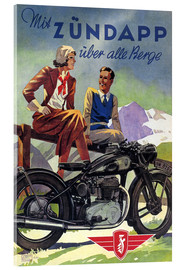 Stampa su vetro acrilico  With Zündapp over the hills - Advertising Collection