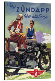 Stampa su alluminio  With Zündapp over the hills - Advertising Collection