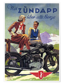 Poster  With Zündapp over the hills