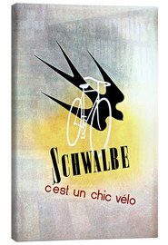 Stampa su tela  Bicycles - Schwalbe, cest un chic velo - Advertising Collection