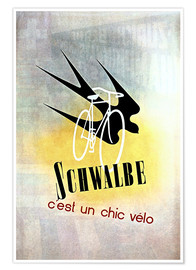 Poster Premium  Bicycles - Schwalbe, cest un chic velo - Advertising Collection