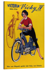 Stampa su alluminio  Who's talking about mopeds, praises Vicky Victoria - Advertising Collection