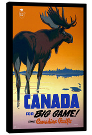 Stampa su tela  Canada - big game - Travel Collection