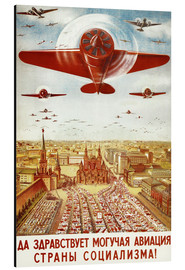 Stampa su alluminio  Aircraft parade on Moscow - Advertising Collection