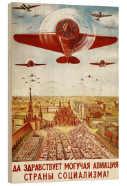 Stampa su legno  Aircraft parade on Moscow - Advertising Collection