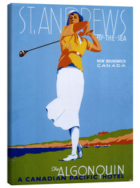 Stampa su tela  St. Andrews - Golf - Advertising Collection