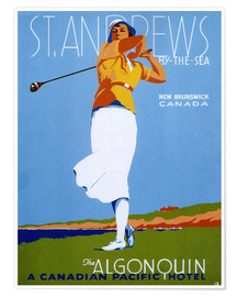 Poster Premium  St. Andrews - Golf - Advertising Collection
