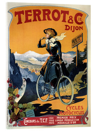 Stampa su vetro acrilico  Terrot & Cie Dijon bicycles and motorcycles - Advertising Collection