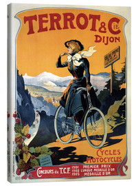 Stampa su tela  Terrot & Cie Dijon bicycles and motorcycles - Advertising Collection