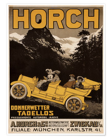 Poster Premium Horch cars - Golly impeccable